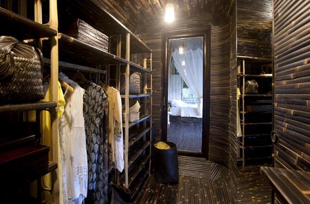 Woning gemaakt van bamboe