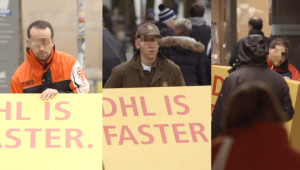 Grandioze guerilla-actie van DHL