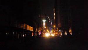 Donkere straten van Manhattan