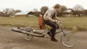 Straalmotor-aangedreven fiets