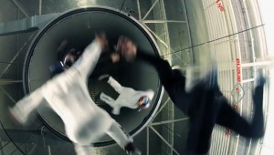 Windtunnel acrobatiek