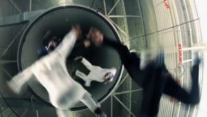Windtunnel acrobatiek
