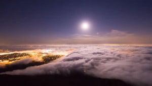 Golvende mist time-lapse