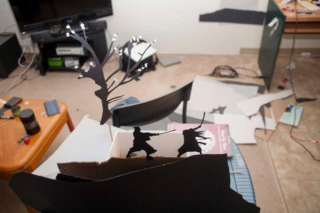 Papieren silhouet