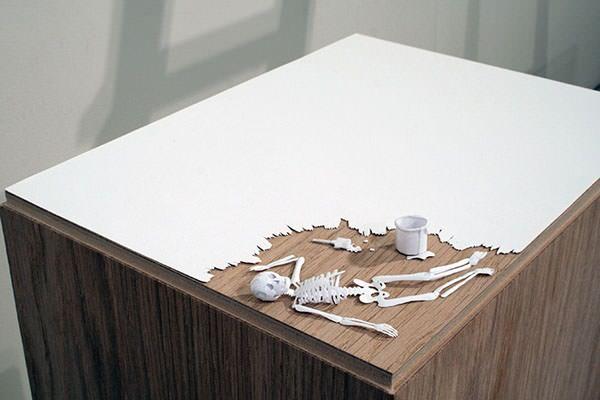 Papier kunstwerk