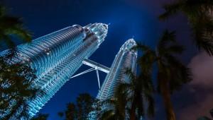 Zonsondergang in Kuala Lumpur