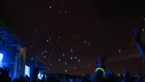 Regen van ledlampjes