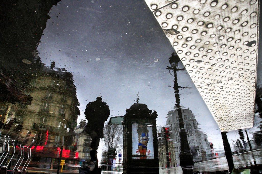 Reflectie vanuit plas