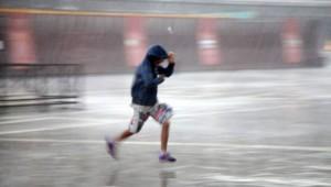 Lopen of rennen in de regen