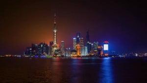 De stad Shanghai