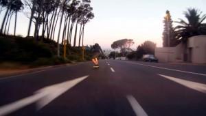 Skateboarder geflitst