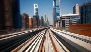 Dubai stad in beweging