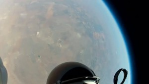 Red Bull Stratos headcam
