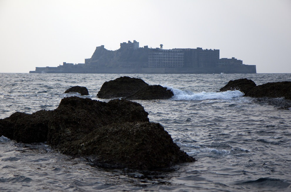 Verlaten Japans eiland