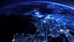 Visualisatie Europees vliegverkeer