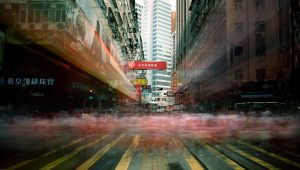 Hong Kong stad in beweging
