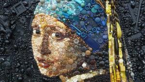 Kleurrijke recycle-kunst