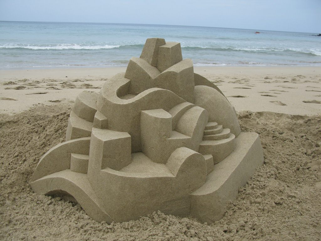 Geometrische zandkastelen