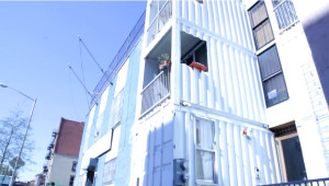 Zeecontainerwoning in New York