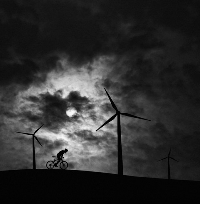 Zwart-wit-silhouet